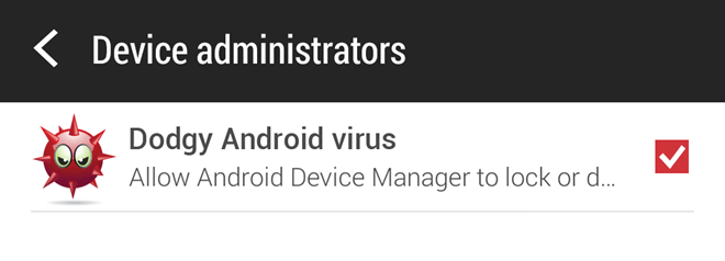 Nâng quyền quản trị thiết bị (Device Administrators)