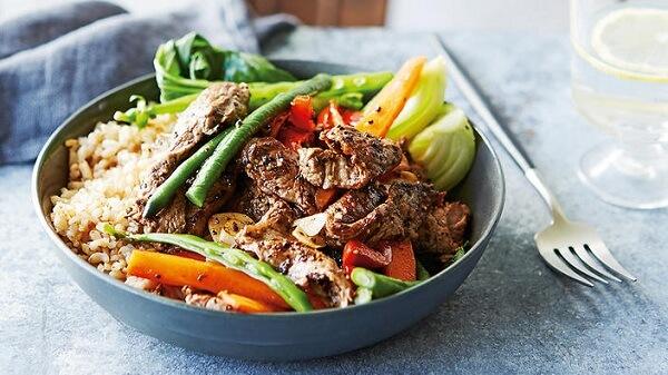 Thực đơn ngày 6: Thịt và rau