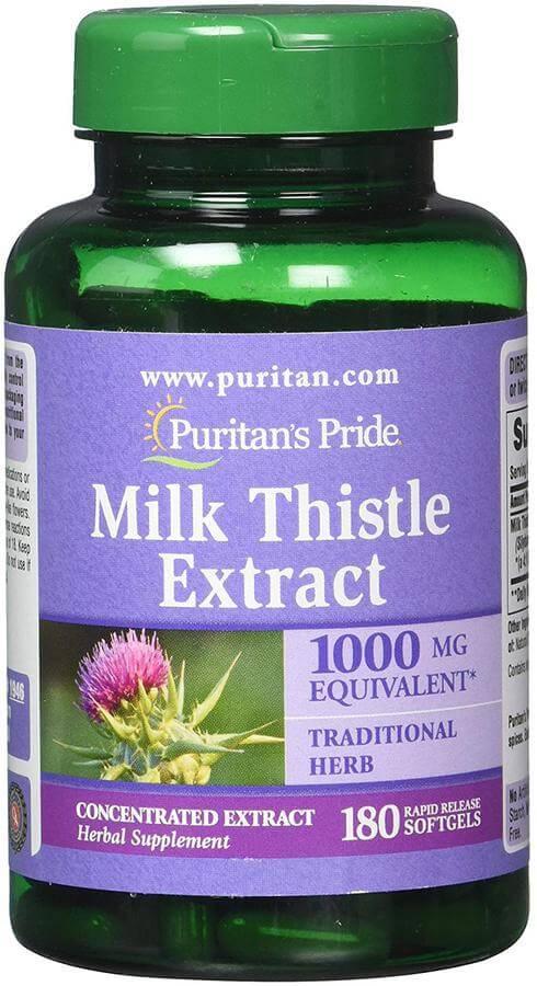 Viên uống bổ gan Milk Thistle Extract Hãng Puritan Pride 1000 Mg, 180 viên