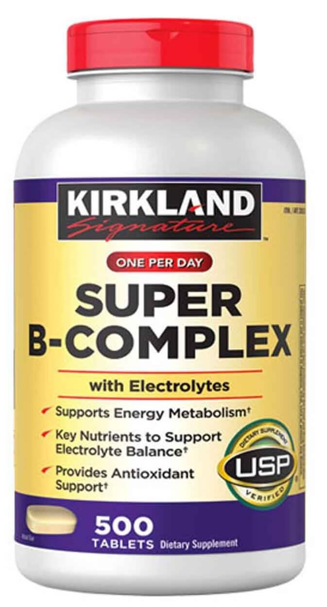 Vitamin B Tổng Hợp Super B-Complex Kirkland 500 Viên chính hãng từ Mỹ