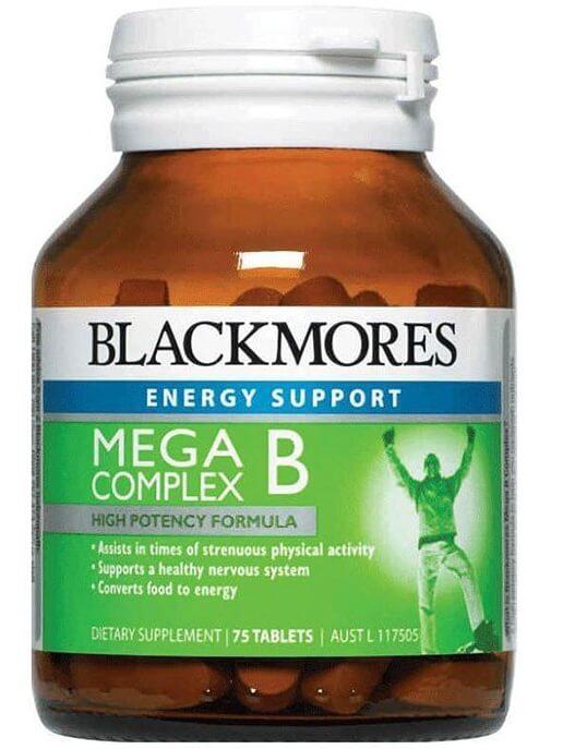 Vitamin B Tổng Hợp Blackmores Mega B Complex 75 Viên Của Úc