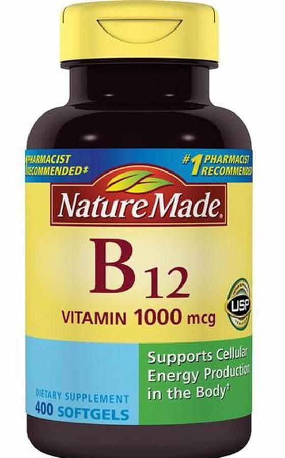 Viên Uống Bổ Sung Vitamin B12 Nature Made 1000 Mcg, 400 viên Của Mỹ