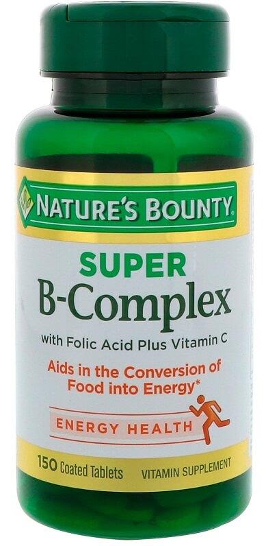 Viên B-Complex Nature's Bounty With Folic Acid + Vit C Của Mỹ
