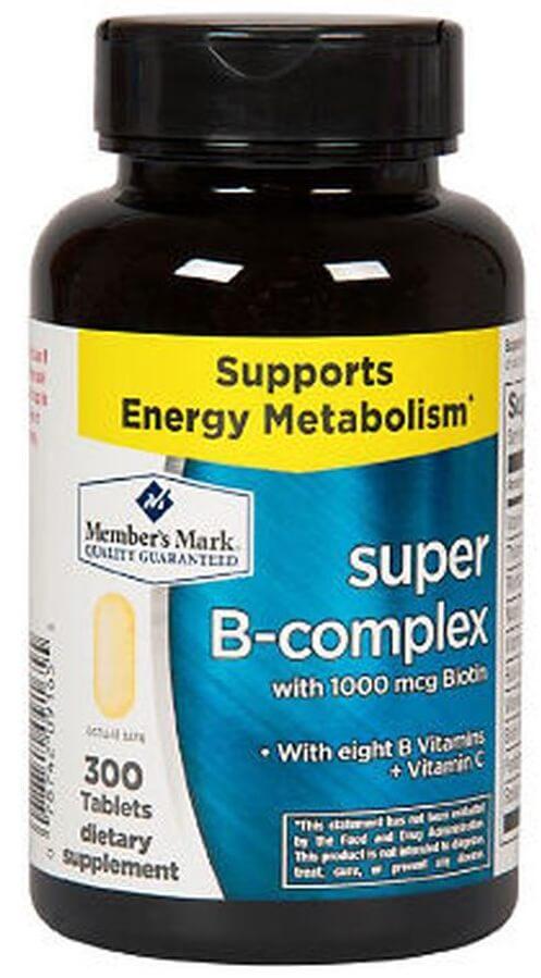 Viên Uống Super B - Complex With Biotin + Vitamin B&C Member's Mark Của Mỹ