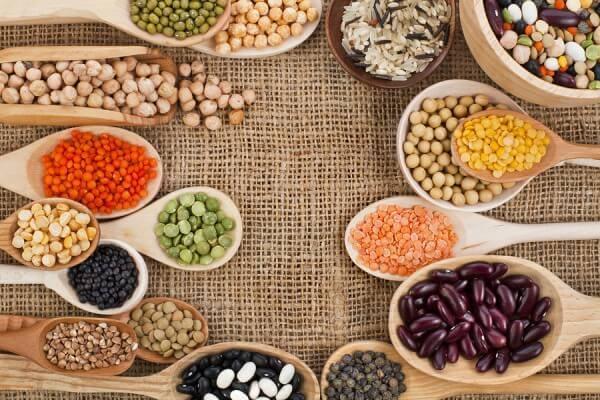 Các loại hạt đậu: đậu nành, đậu xanh, đậu đỏ, đậu ngự, đậu cove ...
