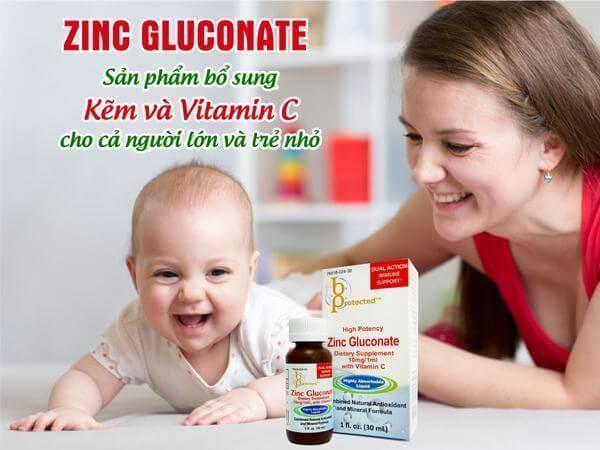 Thực phẩm chức năng Bổ Sung Kẽm và Vitamin C Bprotected Zinc Gluconate
