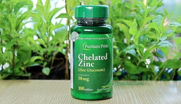 Viên uống bổ sung kẽm Puritan's Pride Zinc Chelate 50mg