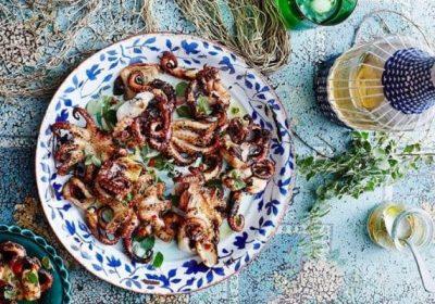 8 món ngon từ bạch tuộc, cách chế biến bạch tuộc nướng muối ớt, nướng sa tế nhậu cuối tuần