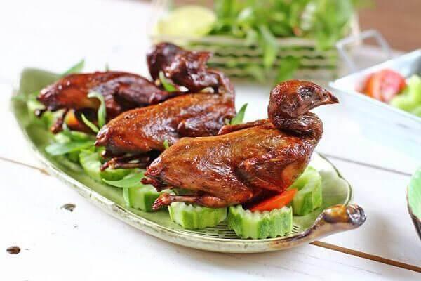 Cách làm món bồ câu rôti nước dừa