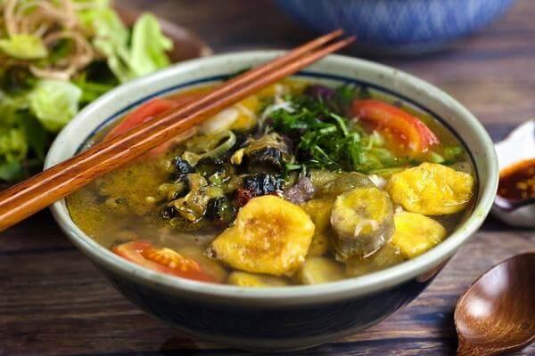 Cách làm món hoa chuối nấu ốc, thịt ba chỉ, đậu phụ