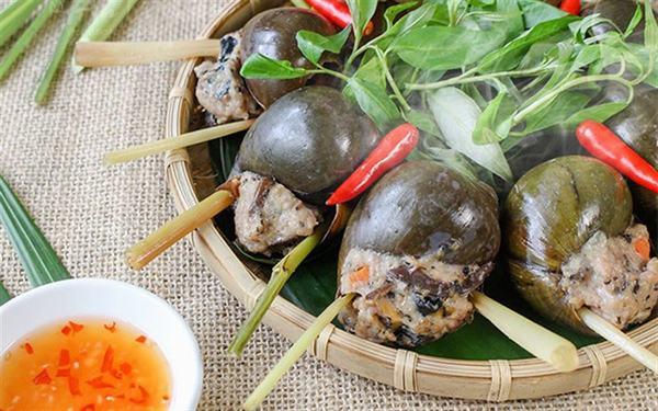 Món ngon từ ốc bươu: Ốc bươu nhồi thịt hấp