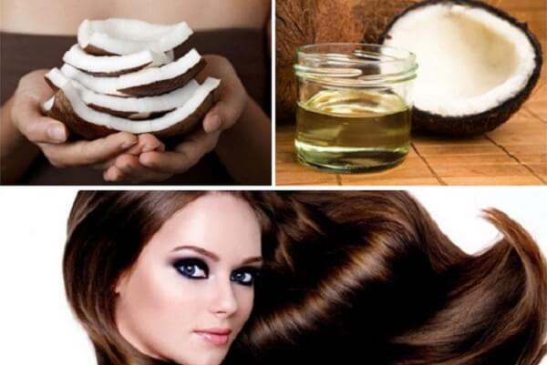 Ủ tóc với dầu dừa, thoa và ủ dầu dừa lên tóc hàng ngày