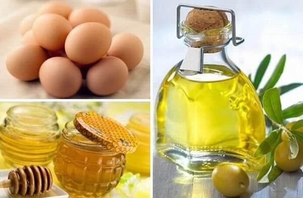 Cách 3: Cách dưỡng trắng da từ dầu dừa, mật ong và lòng đỏ trứng gà