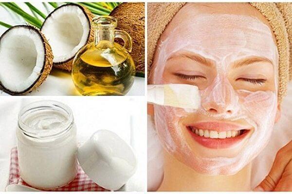 Cách làm đẹp da mặt từ dầu dừa với sữa chua dưỡng da trắng hồng tự nhiên