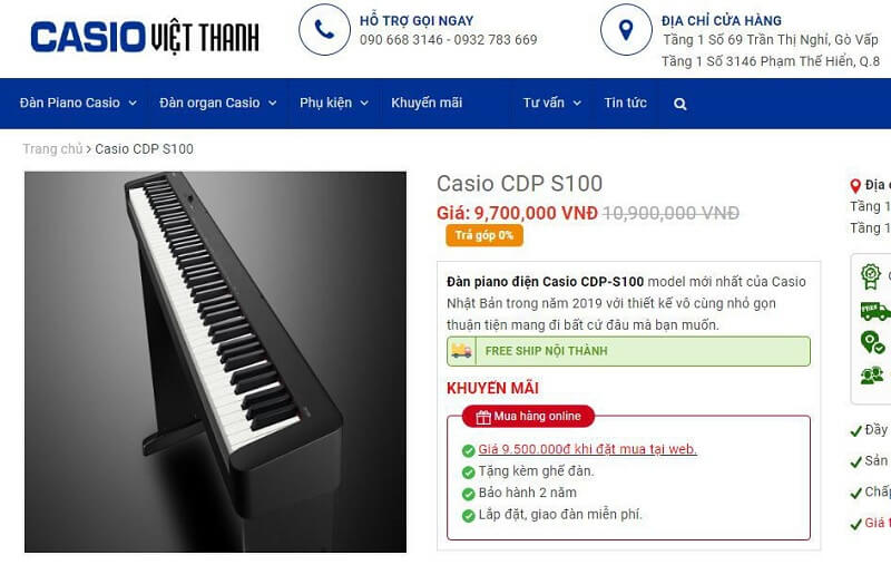 TOP 2: CASIO VIỆT NAM
