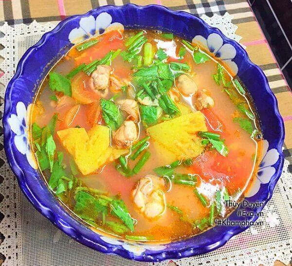 Món hàu sữa nấu canh chua