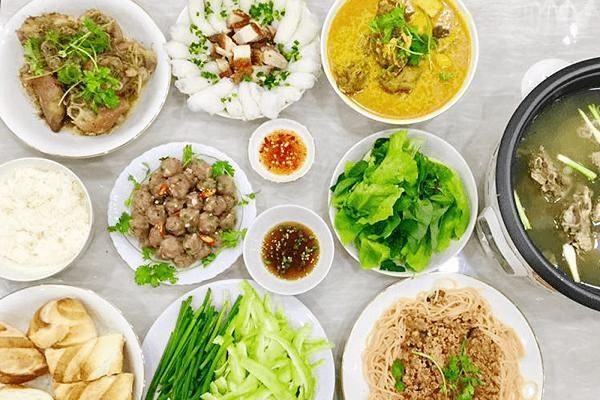 Danh sách 30 món thực đơn hàng ngày trong tháng - 7 ngày trong tuần