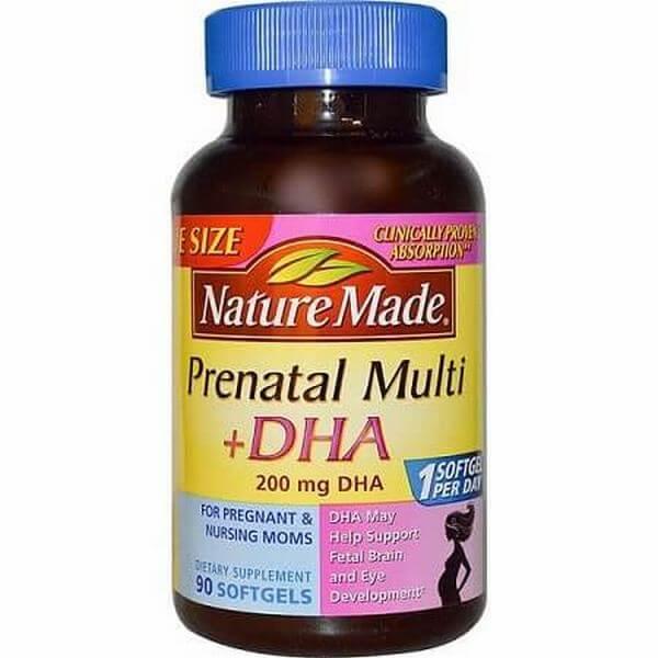 Vitamin tổng hợp cho bà bầu Prenatal Multi + DHA của Mỹ – 400-500k/hộp