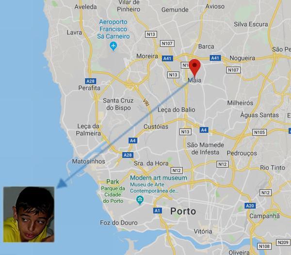 Bruno Fernandes đã tham gia tại Maia ở Porto.