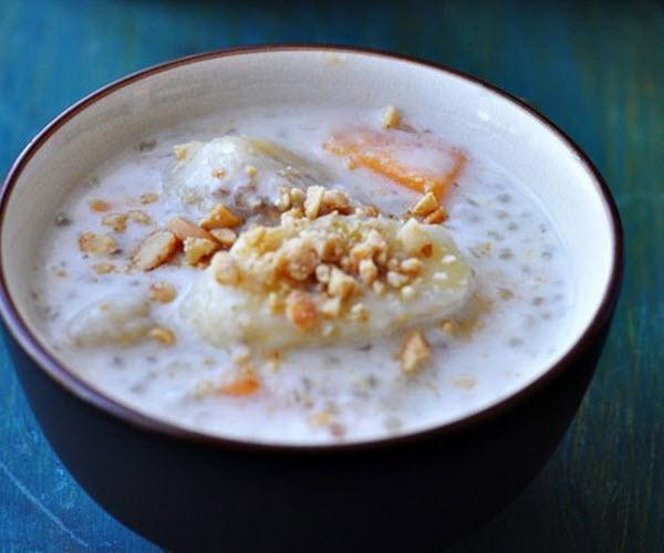 Cách nấu chè chuối khoai lang (khoai lang tím, khoai lang vàng)