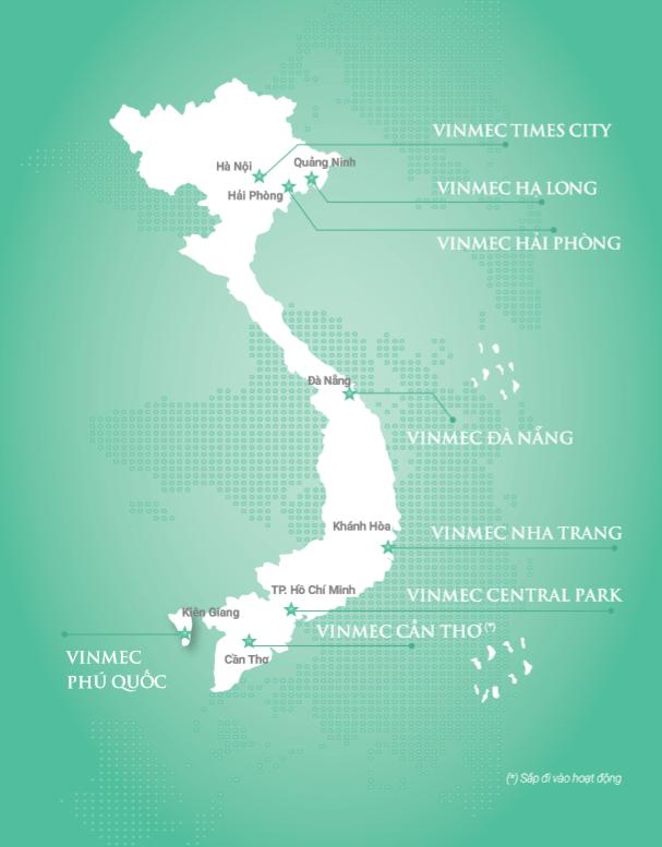 Địa chỉ bệnh viện, phòng khám thuộc hệ thống Y tế Vinmec trên toàn quốc