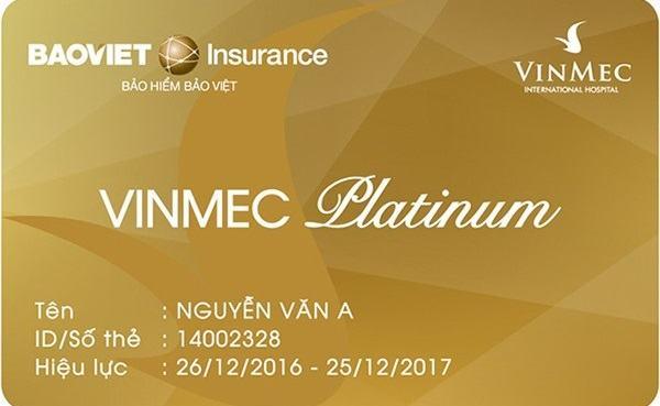 Thẻ bảo hiểm Vinmec.