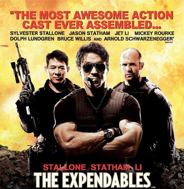 Biệt đội đánh thuê 2010 cùng Jason Statham, Bruce Willis, Dolph Lundgren, Randy Couture