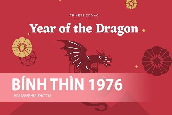 [Bính Thìn 1976] Sinh năm 1976 mệnh gì tuổi gì, năm 76 hợp hướng nào hợp màu nào, năm nay bao nhiêu tuổi?