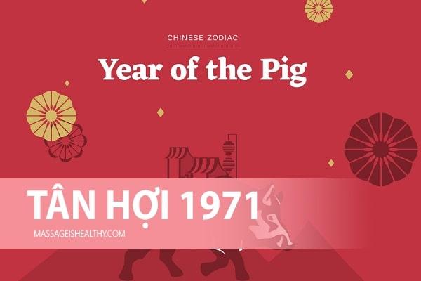 [Tân Hợi 1971] Sinh năm 1971 mệnh gì tuổi gì hợp hướng nào, sinh năm 71 năm nay bao nhiêu tuổi?
