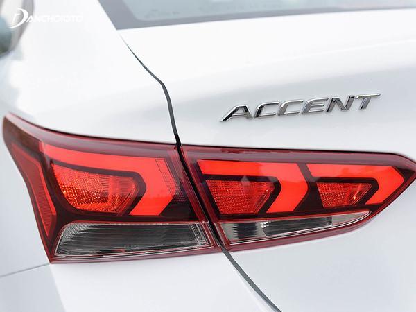 Đuôi xe Accent 2020 có bộ đèn LED 3D