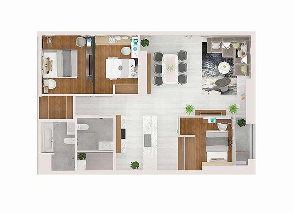 Cho thuê căn hộ Kingdom 101 dự án chung cư cao cấp tại quận 10 Tập đoàn Hoa Lâm 15