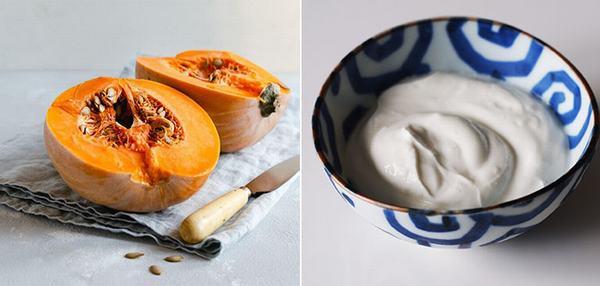 Mặt nạ bí đỏ và sữa chua không đường phù hợp với mọi loại da – kể cả da nhạy cảm