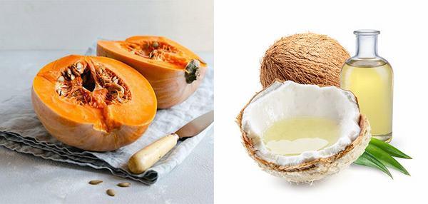 Mặt nạ trị nám da bằng bí đỏ và dầu dừa giúp nuôi dưỡng làn da khỏe mạnh và mịn màng