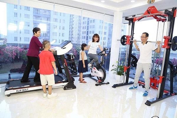 Xe đạp tập được các gia đình ưa chuộng