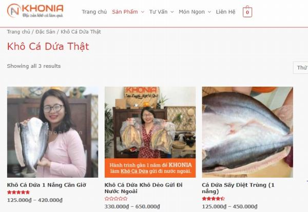 Nên chọn khô cá dứa 1 nắng tại Khonia.vn