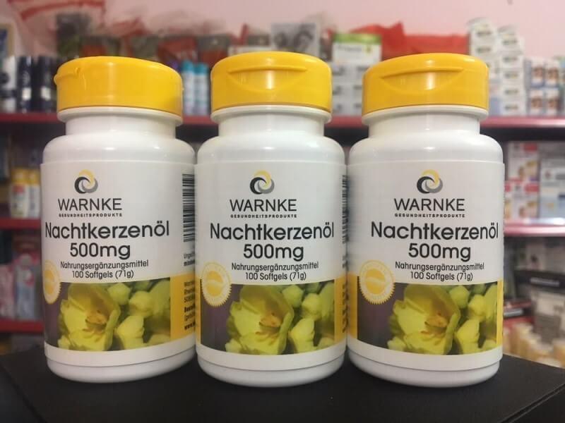 Tinh Dầu Hoa Anh Thảo Warnke Nachtkerzenol 500mg – Đức