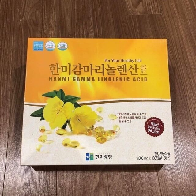 Tinh dầu hoa anh thảo Hanmi gamma linolenic acid Hàn Quốc