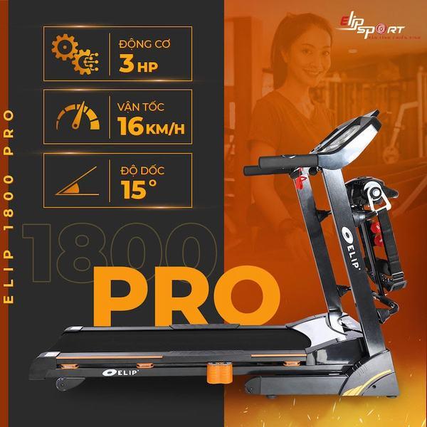 Máy chạy bộ Elip 1800 Pro