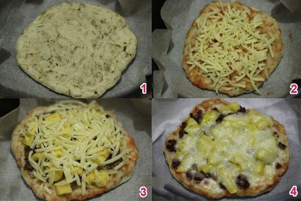 Bánh pizza làm bằng nồi cơm điện