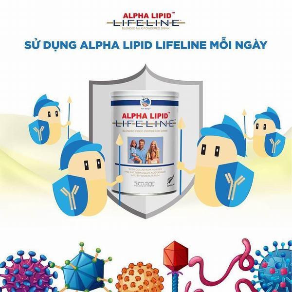 Đâu là công dụng đúng nhất về sữa non Alpha Lipid Lifeline 4