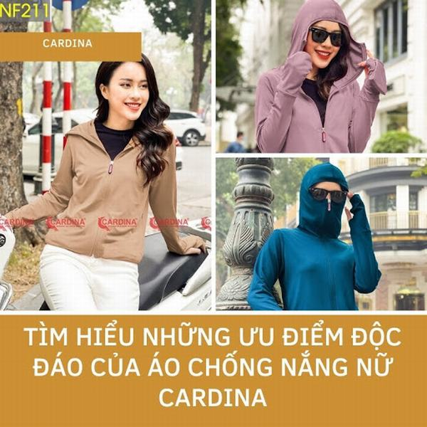 Áo chống nắng nữ Cardina và những ưu điểm