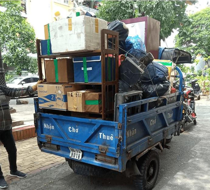 Công dụng chủ yếu của xe ba bánh là vận chuyển hàng hóa